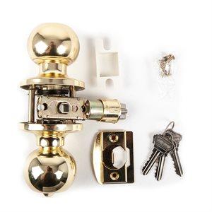 Door Lock Knob Polished Brass