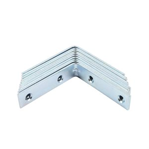 10PC Corner Braces 3in Zinc