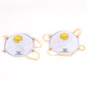 2 PC Dust Mask Carbon w / Valve