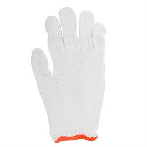 1dz. Des Gants En Poly / Coton Tricoté Blanc (S)