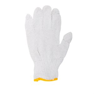 1dz. Knitted Poly / Cotton Gloves White (M)