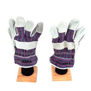 1dz. Cow Split Leather Gloves Reinforce Palm (OSFA)