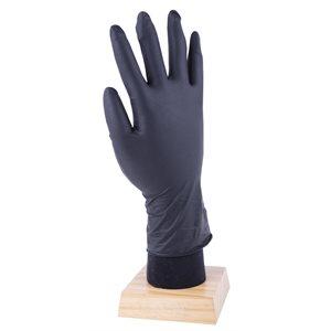 50Pk Latex Free Disposable Nitrile Gloves Black 8 Mil (M)