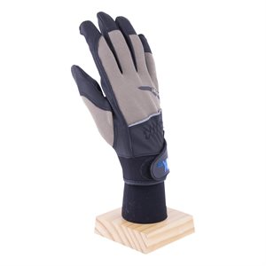 1 Pair Boxer Gloves Gray / Black With PU Palm (OSFA)