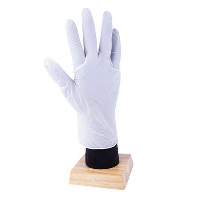 100Pk Premium Quality Disposable Latex Gloves White (L)