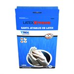 100Pk Premium Quality Disposable Latex Gloves White (XL)