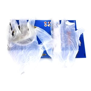 100PC Vinyl Disposable Gloves (L)