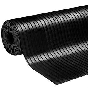 Rubber Runner Ribbed 27in x 50ft 3mm Black