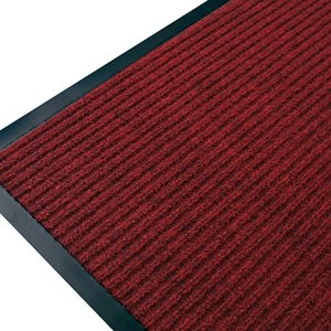 Ribbed Mat Twin 24in x 36in Red
