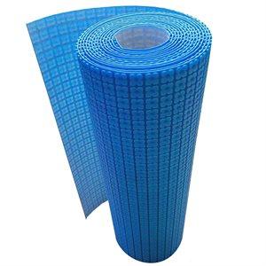 """Membrane De Désolidarisation Pour Système De Plancher Chauffant 1m x 5.6mm x 10m (40""""x33') Bleu"""