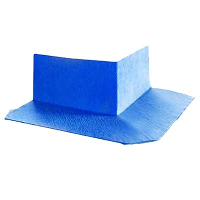 Nonwoven Membrane Fabric Outside Corner 14cm x 6cm Blue