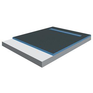 XPS Foam Perimeter Linear Drain Shower Tray 5ft x 1½in x 5ft