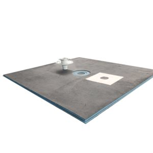 XPS Foam Round Center Drain Shower Tray Kit 5ft x 3 / 4in x 5ft (Tile-In Grid)