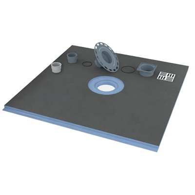 XPS Foam Round Center Drain Shower Tray Kit 5ft x 3 / 4in x 5ft (Grill Grid)