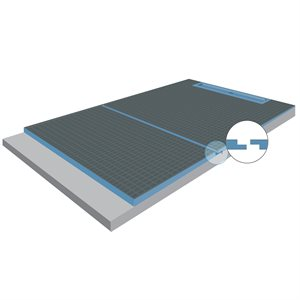 Splitted XPS Foam Perimeter Linear Drain Shower Tray 3ft x 1½in x 5ft