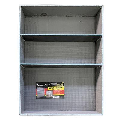 XPS Foam Shower Niche With 2-Shelves 20in x 3.5in x 29in