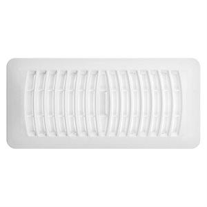 Plastic Floor Register 4in x 10in White
