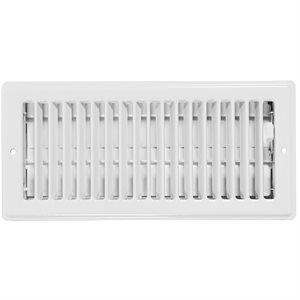 Steel Ceiling Register 4in x 10in White