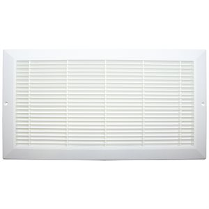 Plastic Sidewall Grill 6in x 14in White