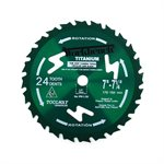 Saw Blade Silicon Coated Titanium 7in - 7¼in (178-184mm) 24T 8300RPM