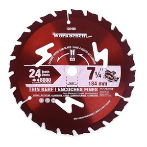 Blade 7¼in 24T Thin Kerf Carbide Tipped
