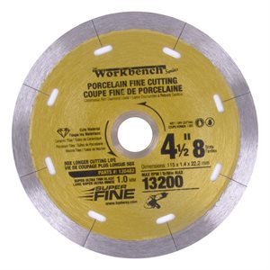 Diamond Saw Blade 4.5in 115mm x 8mm Super Thin With 8 Slots