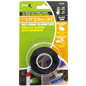 Self-Fusing Silicone Tape 2.5cm x 3m Black