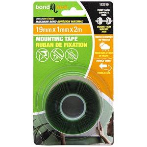 Maximum Bond Mounting Tape 19mm x 1mm x 2m Indoor