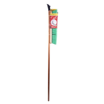 18in Push Broom-Soft W / Brace & Handle
