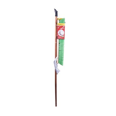 24in Push Broom-Soft W / Brace & Handle