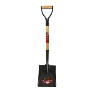 Shovel Sq M 39 ½in Wood Poly D-Grip Handle