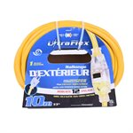 Extension Cord Outdoor SJTW 12 / 3 Lighted Single Tap Yellow 10m / 32.8ft