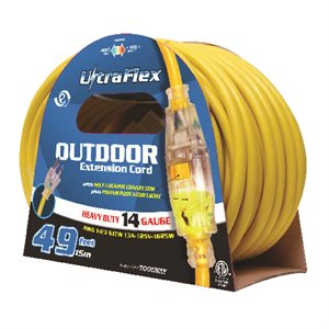 Extension Cord SJTW 14 / 3 50ft 1-Outlet