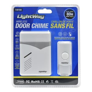 Door Chime With Wireless Remote White