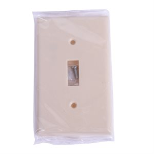 1 Gang Toggle switch plate Ivory