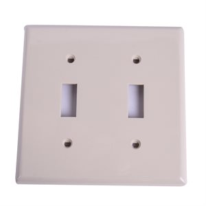 2 Gang Toggle switch plate Ivory