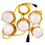 5-LED String Worklights 40W 5000k 5000lm 15m Cord