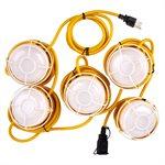 Lampe De Travail À Corde 5-DEL 40W 5000k 5000lm Rallonge 15m