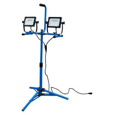 SMD LED Worklight Dual Head W / Tripod & Stand 2x 32W 6000lm