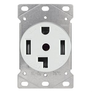 Dryer Receptacle 3 Pole 4 Wire White