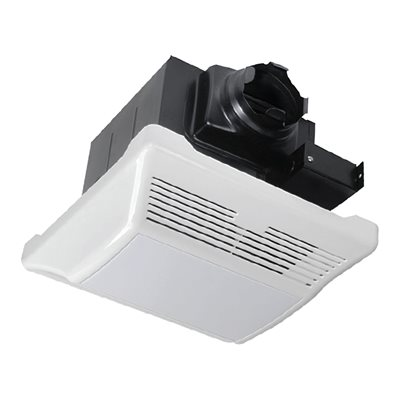 Deluxe Quiet Bath Fan W / Light White 110CFM 1.2 Sone