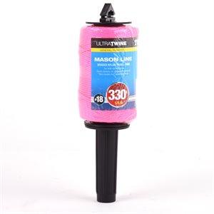 Braided Nylon Twine Pink 100m w / Dispenser