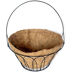 15in Basket With Handle & Coco Liner