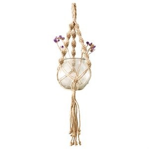 Jute Rope Plant Hanger Style 18103 Natural 31in new