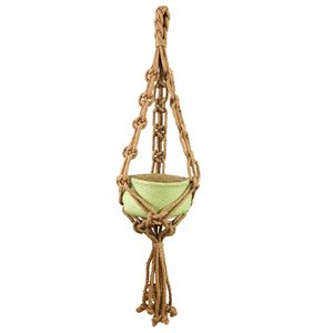 Jute Rope Plant Hanger Style 161016 Natural 49in new