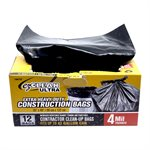 12pc Construction Bag 35in x48in (4 mil) Black