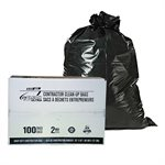 100pc Construction Bag 35in x50in (2 mil) Black