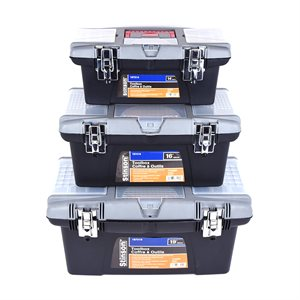3PC Toolbox Set 14in 16in 19in