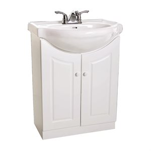 Vanity 22in HB101BW White (Non Assembled)