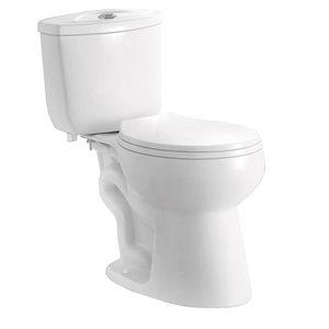 Toilet Single Flush Elongated-Front 4.8L 2-Piece White